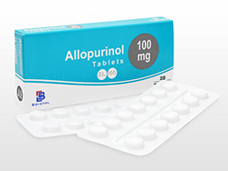 アロプリノール(Allopurinol) 100mg Bristol Lab